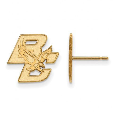 Boston College Eagles Sterling Silver Gold Plated Small Post Earrings