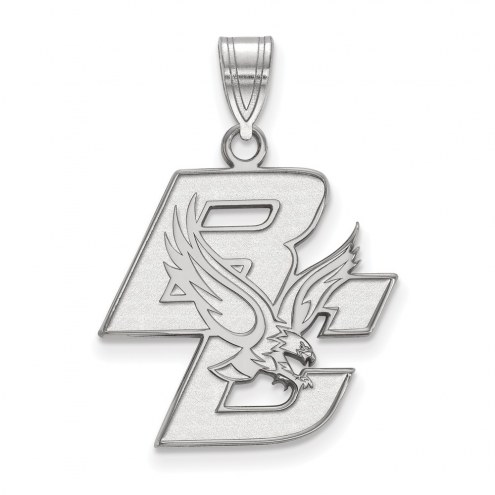 Boston College Eagles Sterling Silver Large Pendant