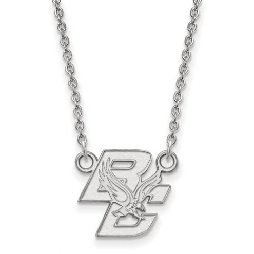 Boston College Eagles Sterling Silver Small Pendant with Necklace