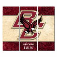 Boston College Eagles Triptych Double Border Canvas Wall Art