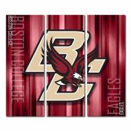 Boston College Eagles Triptych Rush Canvas Wall Art