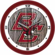 Boston College Eagles Weathered Wood Wall Clock