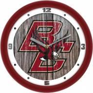 Boston College Eagles Weathered Wood Wall Clock