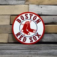 "Boston Red Sox 12"" Steel Logo Sign"