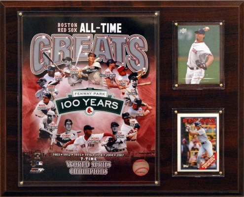"Boston Red Sox 12"" x 15"" All-Time Great Photo Plaque"