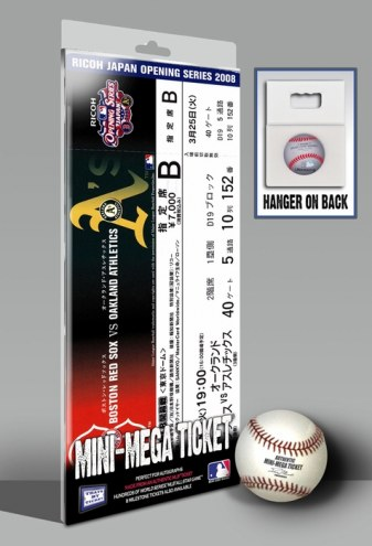 Boston Red Sox 2008 Opening Day Japan Mini Mega Ticket
