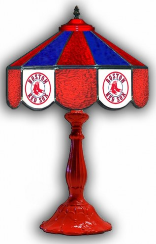 """Boston Red Sox 21"""" Glass Table Lamp"""