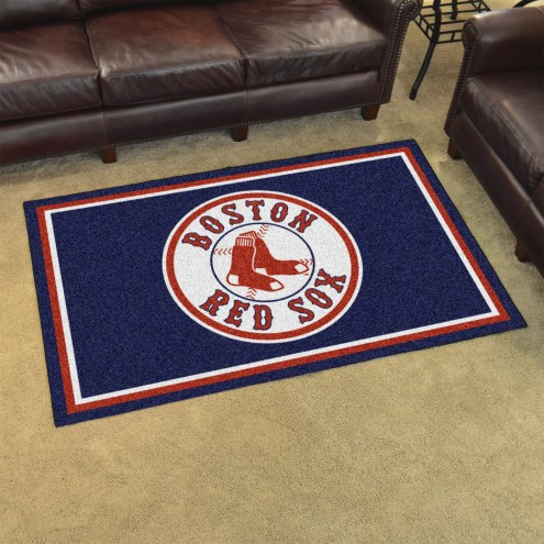 Boston Red Sox 4 X 6 Area Rug