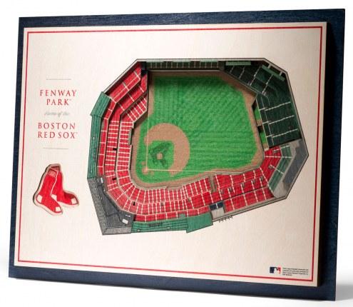 Boston Red Sox 5-Layer StadiumViews 3D Wall Art