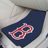 "Boston Red Sox ""B"" 2-Piece Carpet Car Mats"