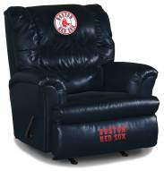 Boston Red Sox Big Daddy Blue Leather Recliner
