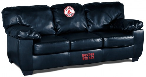Boston Red Sox Blue Leather Classic Sofa