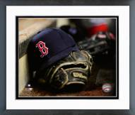 Boston Red Sox Boston Red Sox Hat & Glove Framed Photo