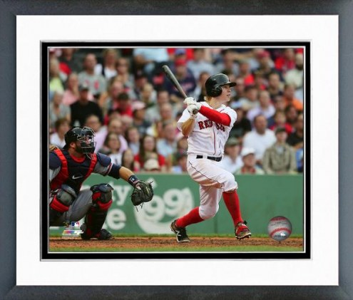 Boston Red Sox Brock Holt Action Framed Photo
