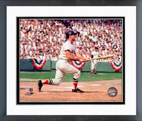 Boston Red Sox Carl Yastrzemski 1967 World Series Action Framed Photo
