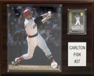 "Boston Red Sox Carlton Fisk 12"" x 15"" Player Plaque"