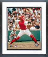 Boston Red Sox Carlton Fisk Throwing in Catchers Gear Framed Photo