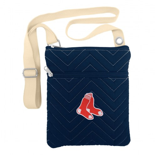 Boston Red Sox Chevron Stitch Crossbody Bag