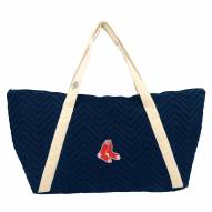 Boston Red Sox Chevron Stitch Weekender Bag