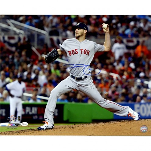 Boston Red Sox Chris Sale Signed Pitching All Star Game Horizontal 16 x 20 Photo
