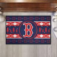 Boston Red Sox Christmas Sweater Starter Rug