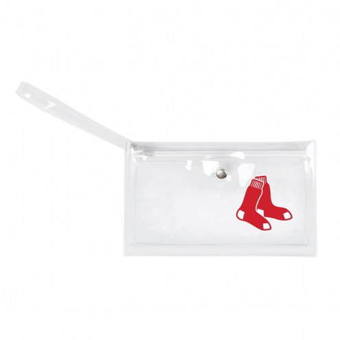 Boston Red Sox Clear Ticket Wristlet