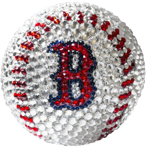Boston Red Sox Swarovski Crystal Baseball