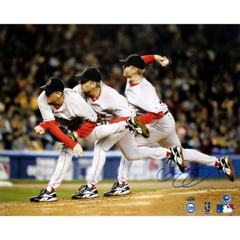 "Boston Red Sox Curt Schilling Triple Exposure Signed 16"" x 20"" Photo"