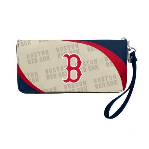 Boston Red Sox Curve Zip Organizer Wallet