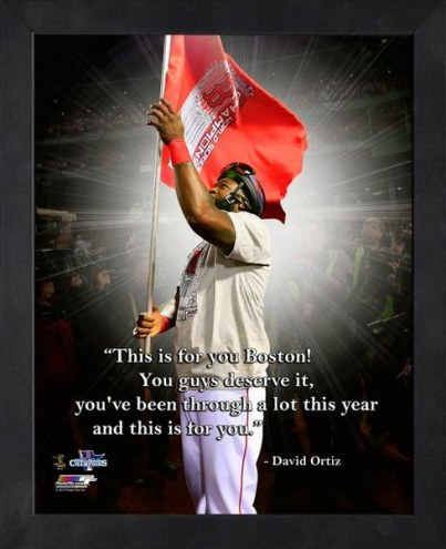 Boston Red Sox David Ortiz Framed Pro Quote