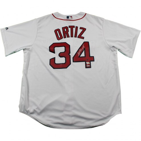 Boston Red Sox David Ortiz Signed Red Sox Authentic White Jersey