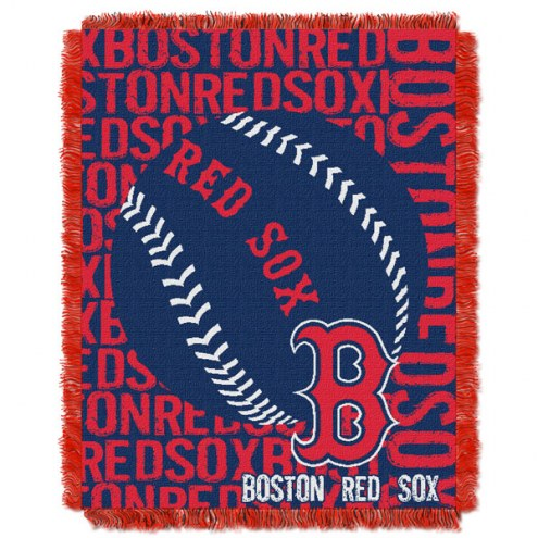 Boston Red Sox Double Play Jacquard Throw Blanket