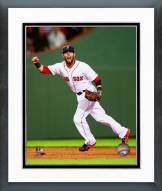 Boston Red Sox Dustin Pedroia Action Framed Photo