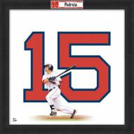 Boston Red Sox Dustin Pedroia Uniframe Framed Jersey Photo