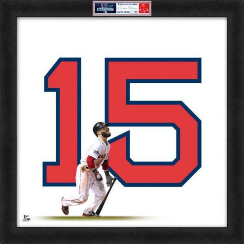 Boston Red Sox Dustin Pedroia World Series Uniframe Framed Jersey Photo
