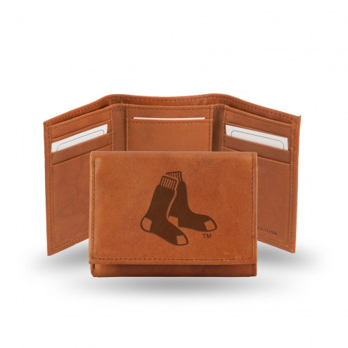 Boston Red Sox Embossed Tri-Fold Wallet