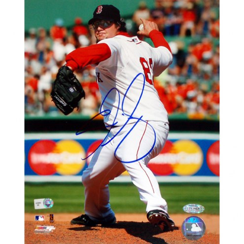 """Boston Red Sox Eric Gagne Home Pitching Signed 16"""" x 20"""" Photo"""