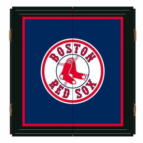 Boston Red Sox Extreme Fan Dartboard Cabinet Set