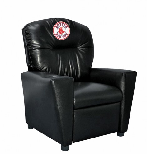 Boston Red Sox Faux Leather Kid's Recliner