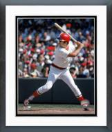 Boston Red Sox Fred Lynn Action Framed Photo