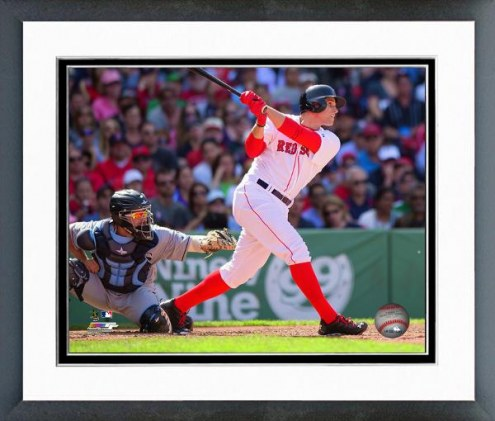 Boston Red Sox Garin Cecchini Action Framed Photo