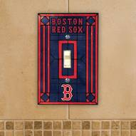 Boston Red Sox Glass Single Light Switch Plate Cover