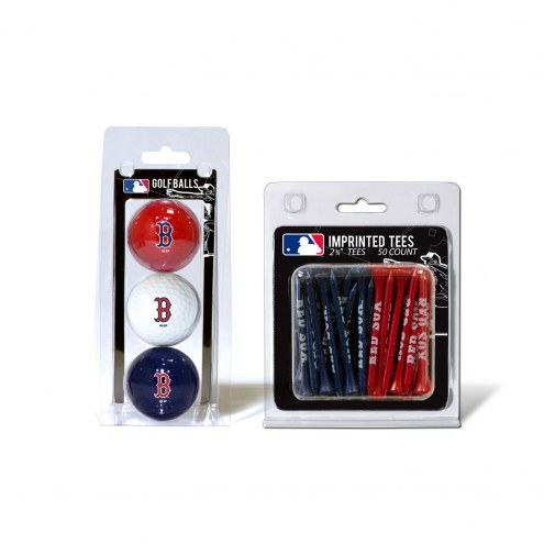 Boston Red Sox Golf Ball & Tee Pack