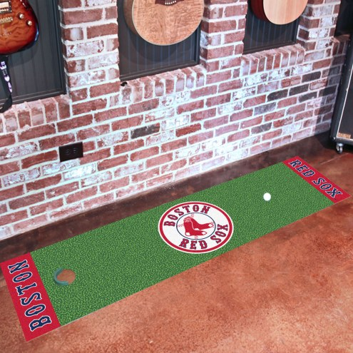 Boston Red Sox Golf Putting Green Mat