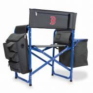 Boston Red Sox Gray/Blue Fusion Folding Chair