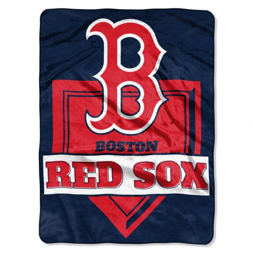 Boston Red Sox Home Plate Raschel Blanket