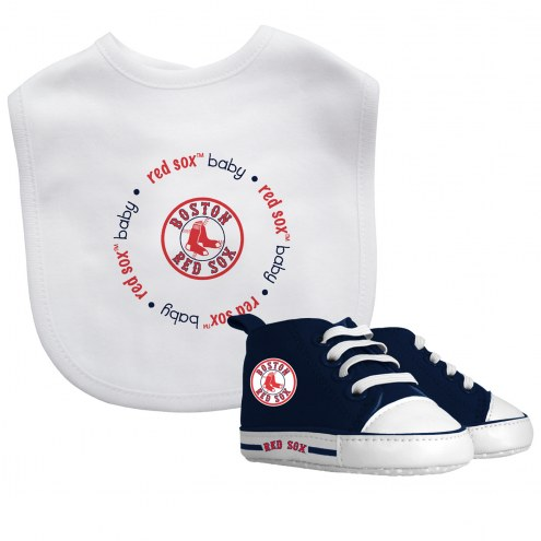 Boston Red Sox Infant Bib & Shoes Gift Set