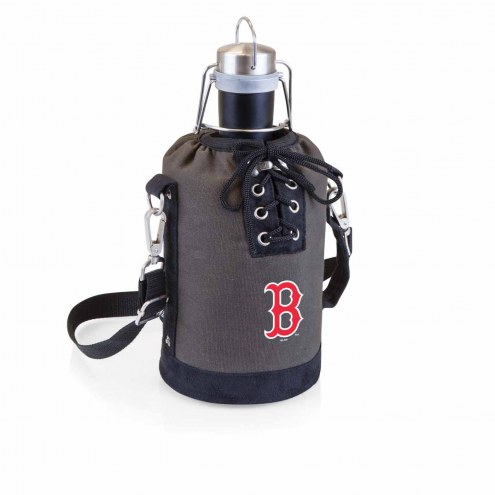 Boston Red Sox Insulated Growler Tote with 64 oz. Stainless Steel Growler