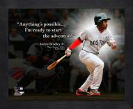 Boston Red Sox Jackie Bradley Framed Pro Quote