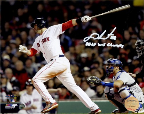 Boston Red Sox J.D. Martinez Signed 2018 World Series 8 x 10 Photo w/ 2018 WS Champs